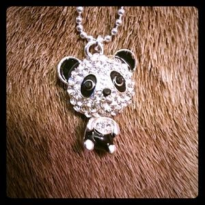 Jewelry - 🌹Cute🌹Crystal Panda necklace