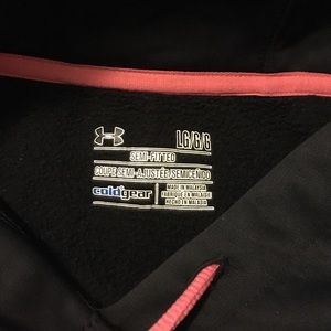 Under Armour Jackets & Coats - Under Armour black and pink Sweatshirt