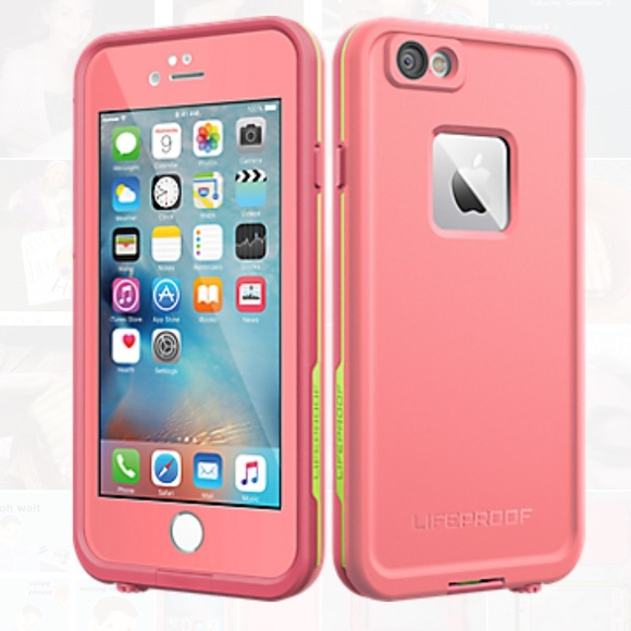 LifeProof Accessories - Pink and Green LifeProof IPhone 6 6s Case f80f09c38e