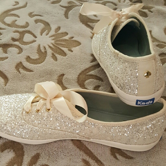 White Wedding Glitter Keds