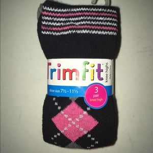Trim-Fits Other - Pack of 3 knee high girls socks New Trim Fits