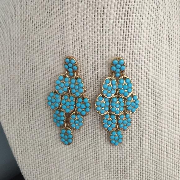 Marlyn schiff Jewelry | Turquoise Chandelier Earrings | Poshmark