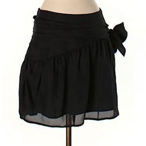 Twenty8Twelve Dresses & Skirts - Black Skater mini skirt with bow on side