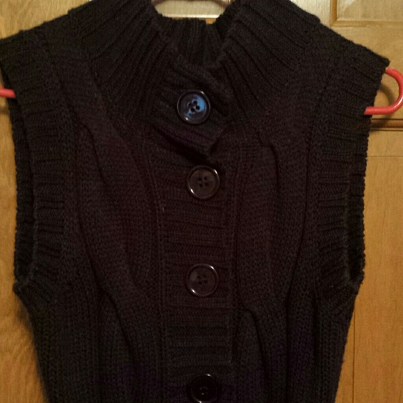75% off LouLou Sweaters - Dark Brown Sweater Vest w/Belt sz Sm ...
