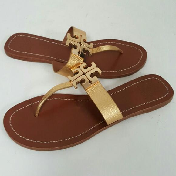 e6f7f491d43aad ... low cost tory burch gold moore 2 thong sandal us 9 524c7 5f11a