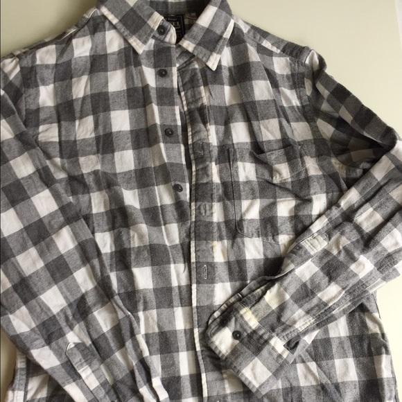 77 off uniqlo other uniqlo gray white buffalo check for Buffalo check flannel shirt