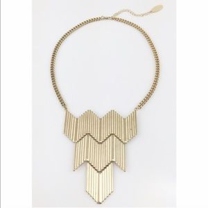 Adia Kibur Jewelry - Gold Chevron Necklace Trendy Geo New in Package