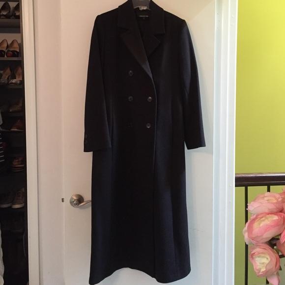 98c9c8f48c6 Long black wool coat
