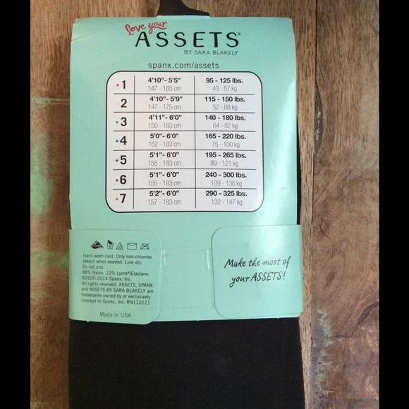 Assets By Sara Blakely Size Chart Recent Wholesale