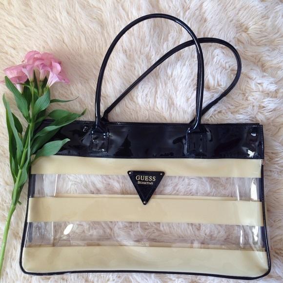 c70afa90ffb6 Guess Handbags - Guess clear bag