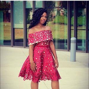 Dresses & Skirts - Bardot cutout dress