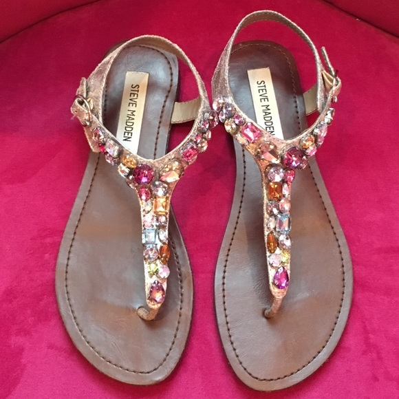 97fb94c2323836 Steve Madden Multi Color Jeweled Sandals. M 57cd911cb4188e2157009975