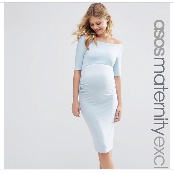 Light Blue Maternity Dress