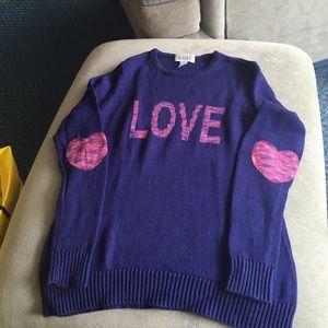 Autumn Cashmere Other - Purple/blue sweater