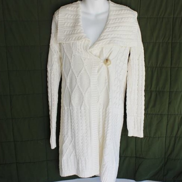 81% off 525 america Sweaters - 525 america Long Cream Cardigan ...