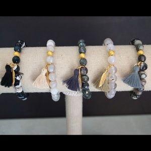 Function & Fringe Jewelry - ☃️ SALE! Mod Gemstone Tassel Bracelets 🔘🔘🔘