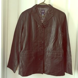 NWOT never worn Gap Leather Jacket
