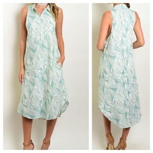 Dresses & Skirts - 1 Left. Small. New-  Light Sage Button Down Dress