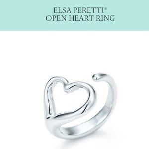 elsa peretti tiffany open heart ring silver - Elsa Peretti Color By The Yard Ring
