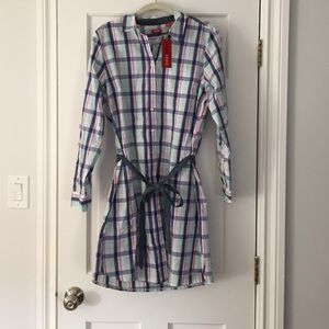 NWT Izod plaid shirt dress
