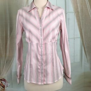 Style & Co Tops - Style & Co. Pin Striped Long Sleeved Blouse