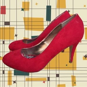 Madden Girl Red Suede Heels