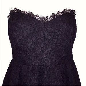 Dresses - Black Lace Bustier Dress