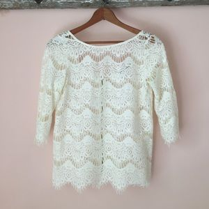 Zara Cream Lace Blouse 77