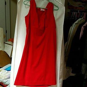 Red Calvin Klein bodycon style dress