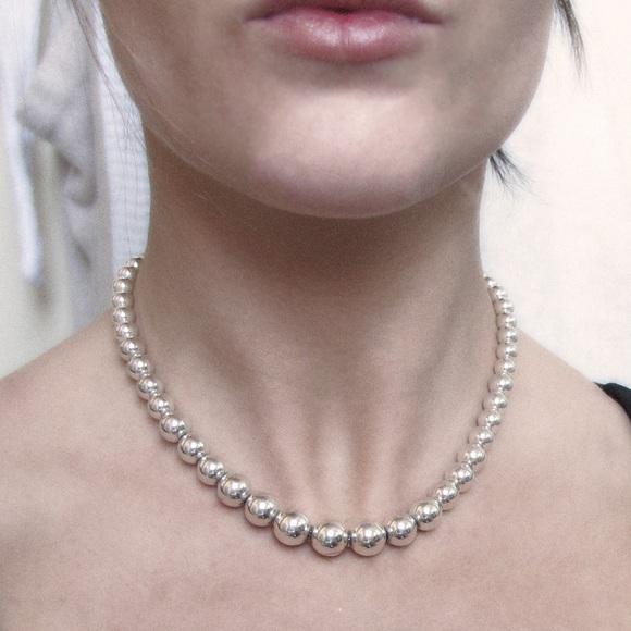fbb7c01cf Tiffany & Co. Graduated Beads Necklace, Silver. M_57cdb32f2599fe8bd000a6e6