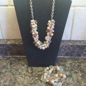New York and Company necklace & bracelet