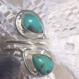 Jewelry - Genuine turquoise and 925 Sterling ring
