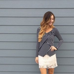 | new | striped long sleeve top