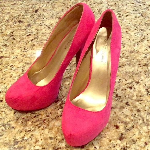 201d7fe5612 Hot pink platform heels