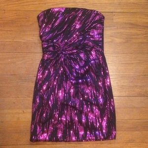 Pink and Black sequin dress
