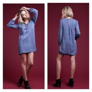 BLU PEPPER ⚜️CHAMBRAY TUNIC DRESSS