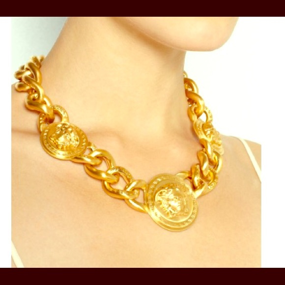 Versace medusa necklace eAX4F