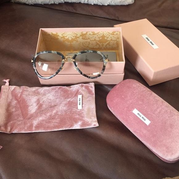 7d704f346 Miu Miu Accessories | Mui Mui Teardrop 53mm Aviator Sunglasses ...