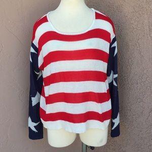WINDSOR Sweaters - American Flag Sweater