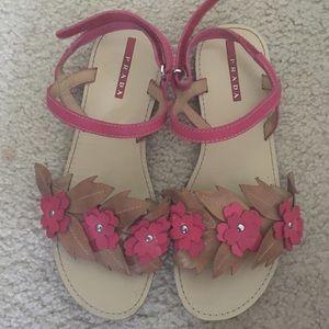 prada flower sandal size 5