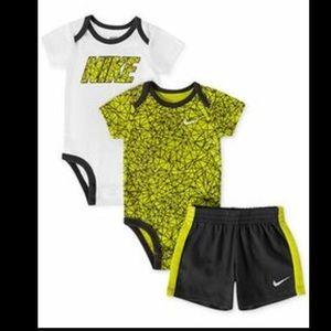Nike Other - Nike Baby Boys' 3-Piece Bodysuits & Shorts Set