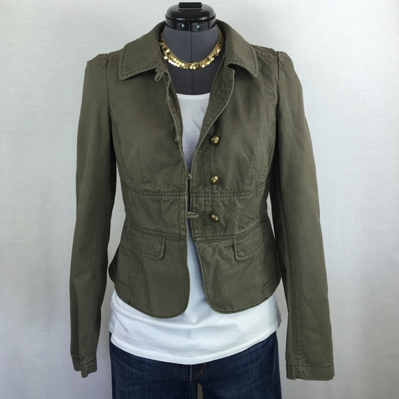 LOFT - LOFT Olive Green Fitted Jacket from Kelly's closet on Poshmark
