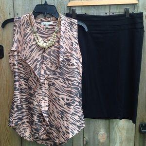 Pencil Skirt Leather Skirt Plaid Skirts