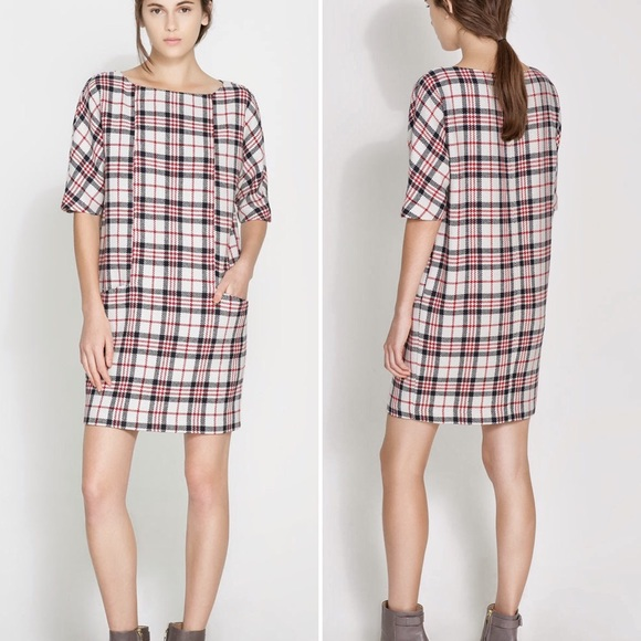 8561c758 Zara Red, White, and Blue Checked Dress. M_57cdc458620ff7229d00d3bd