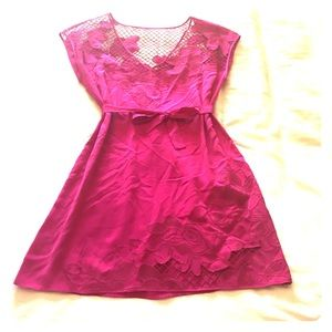 NWT Fuschia silk dress