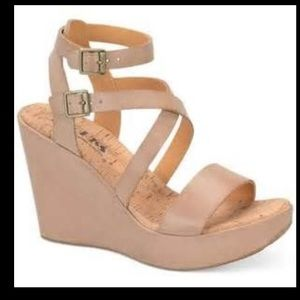 Kork Ease leather wedge