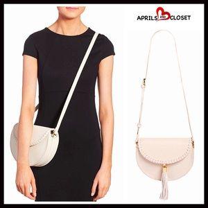 Boutique Handbags - ❗1-HOUR SALE❗Genuine Suede Tassel Crossbody Bag