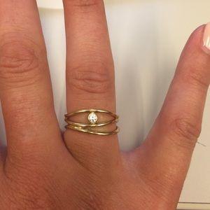 a397afc17 Tiffany & Co. Jewelry | Tiffany Co Wave Threerow Diamond Ring | Poshmark