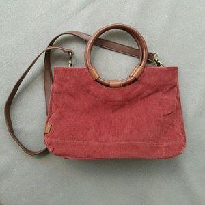 Fossil Handbags - Fossil Red Corduroy Bag