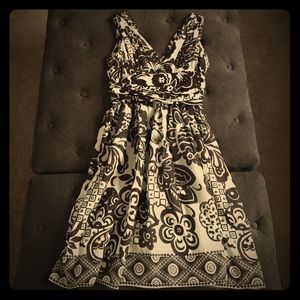 Abaete Dresses & Skirts - NWOT Abaete Brown and White Print Dress!